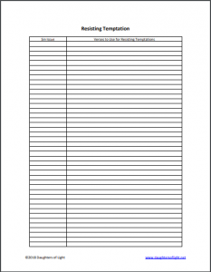 Bible Study Worksheets – Daughters of Light